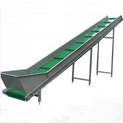 商用电动升降皮带输送机 PVC皮带流水线 爬坡装车皮带输送机