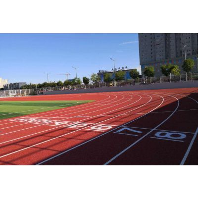 新国标透气型塑胶跑道,透气型塑胶跑道投标,透气型塑胶跑道价格,透气型塑胶跑道材料生产厂家.德朝体育