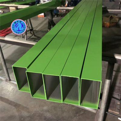 厂家直销上海天花幕墙型材铝方管 铝合金凹槽方管