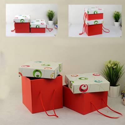 礼品盒正方形大号 生日天地盖礼物盒 批发天地盖礼盒 ins礼盒订做
