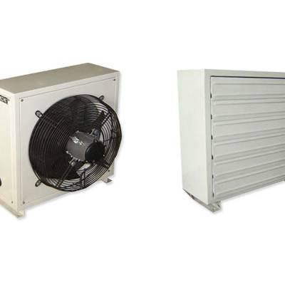 厂房8GS型热水暖风机工作原理