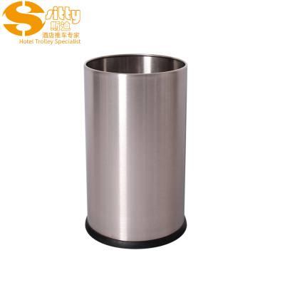 专业生产SITTY斯迪92.N200SA砂光无焊缝不锈钢圆形客房桶/垃圾桶