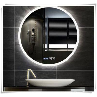 洗手间镜圆镜浴室镜子智能led带灯发光卫生间镜子壁挂卫浴镜