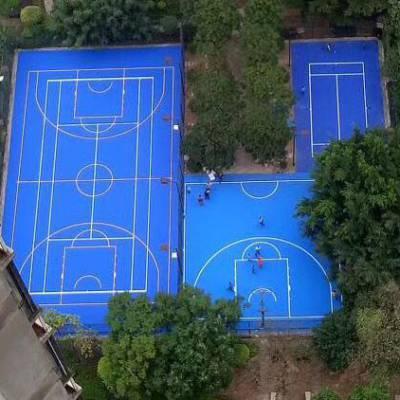 岳阳学校篮球场地坪施工 ,彩色塑胶球场跑道材料生产厂家