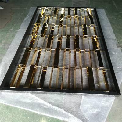 镀金不锈钢屏风加工定制厂家 镂空焊接电镀屏风隔断玄关