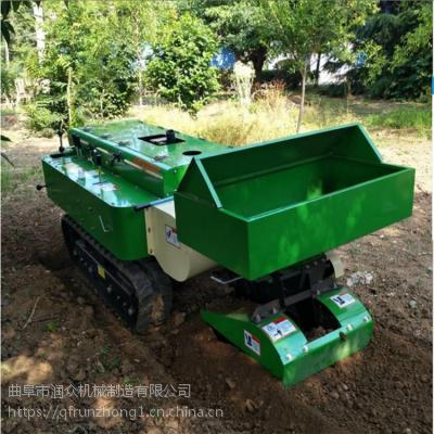 柴油动力农场履带开沟机 爬坡行走式山地旋耕机