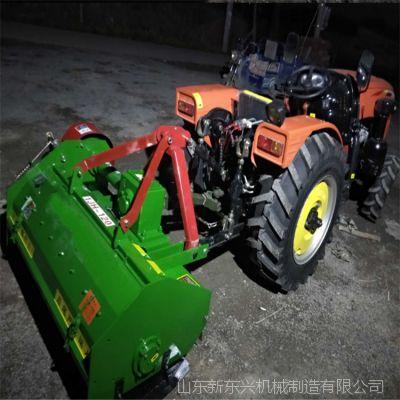 玉米秸秆粉碎还田机 四轮拖拉机带灭茬机 杂草麦秆棉秆喷撒设备