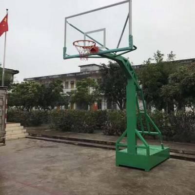 铁岭凹箱式篮球架 圆管篮球架 箱式升降篮球架