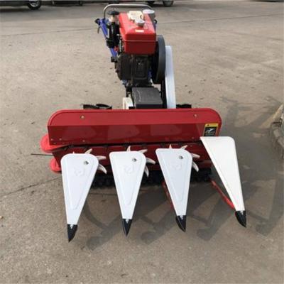 单缸四轮皮带连接收割机 120割幅玉米割杆机 多功能打草机