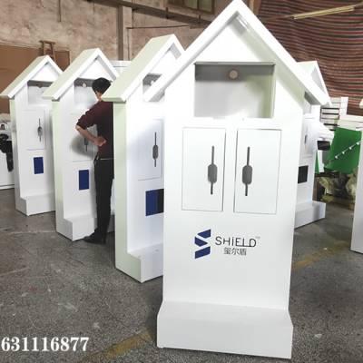 西安 安防门锁柜 喜利 异型智能锁展示柜定做厂家