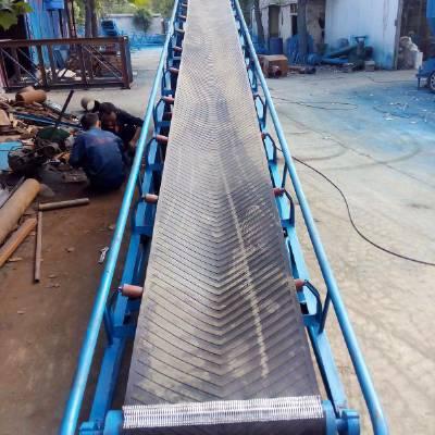 升降式爬坡输送机 袋装小麦装车输送机