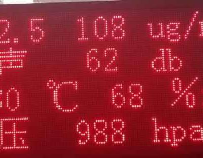 河北环境监测LED显示屏厂家