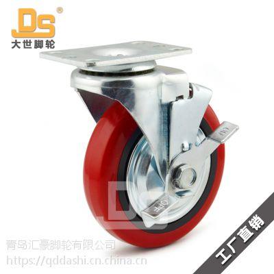 青岛大世脚轮DS20系列搬运设备PVC脚轮厂家销售