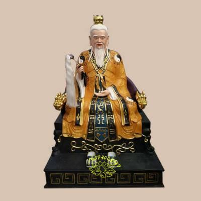 镀金石雕神像价格 树脂彩绘三清神像彩绘贴金河南佛像厂直销