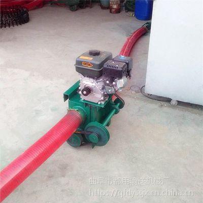 都用-工地黄沙软管吸料机 红豆装袋子吸粮机 12米长双驱动吸粮机