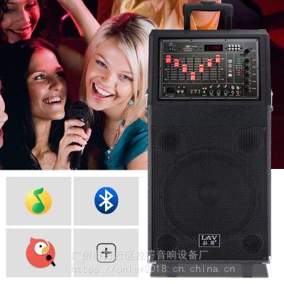 拉杆音箱PA-12 12寸大功率户外移动可充电蓝牙话筒收音录音广场舞音响播放器