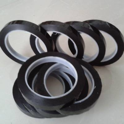 黑色高温胶带 彩色高温遮蔽胶带 耐高温黑色遮光胶带