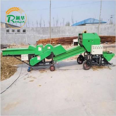 鲜玉米秸秆打捆包膜机 自动化牧草打包机批发