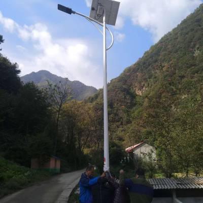 青岛智能太阳能路灯效果图 山东图景照明工程供应