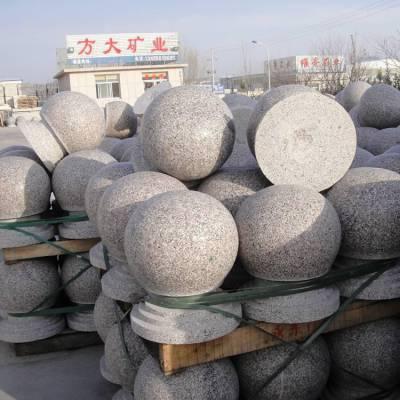 大理石挡车柱,直径20公分高60公分石材挡车柱价格