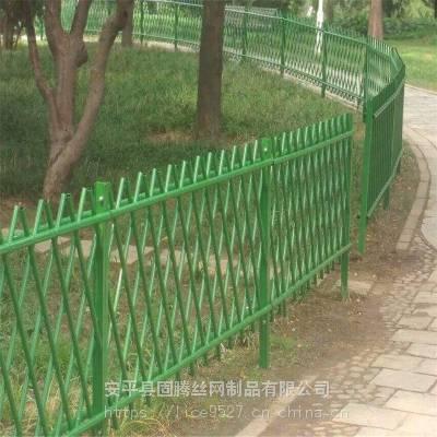 仿竹生态篱笆围栏 公园高档小栏杆 绿化带竹节围栏