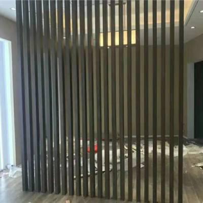 南京生态木方通工装吊顶材料厂家生态木立柱隔断