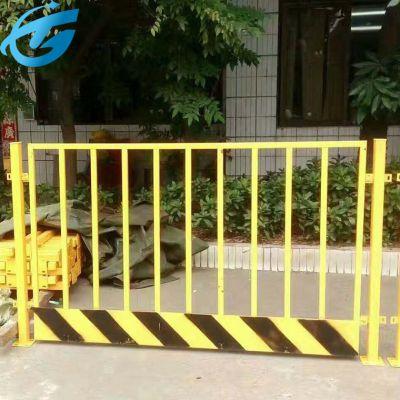 黄色基坑防护栏/地铁基坑护栏