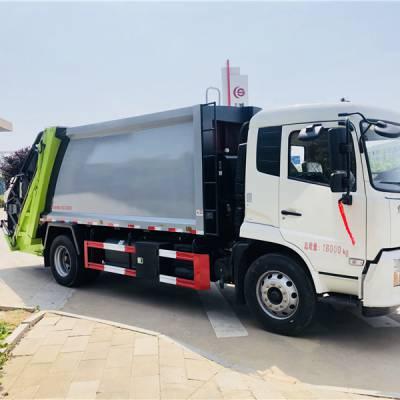 东风牌压缩垃圾车 挂桶式垃圾车 垃圾运输车报价