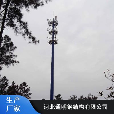 通明30米插接式独管通讯塔_热镀锌抗氧化通讯塔报价
