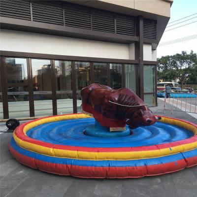 廣場新款成人兒童娛樂項目西班牙瘋狂斗牛機成人翻轉騎牛機