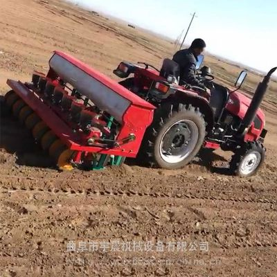 胡萝卜白菜播种机 宇晨起垄施肥铺滴灌带白萝卜精播机 一次种一粒播种机厂家