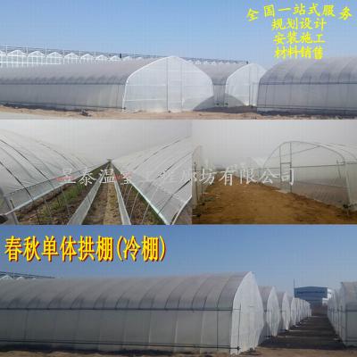 蔬菜种植冷棚春秋简易拱棚安装建设昱泰温室大棚