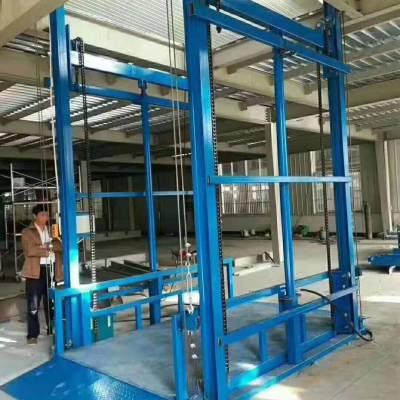 安徽升降平台电动固定剪叉导轨式液压升降机货梯厂家