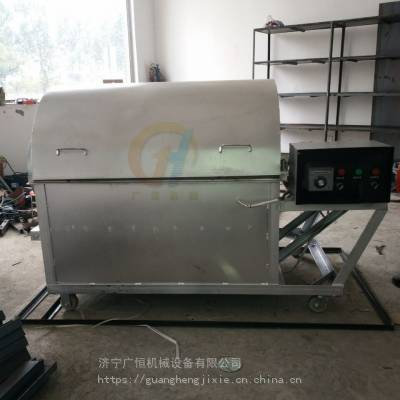 榨油配套滚筒式自动炒料机 芝麻 板栗炒锅机