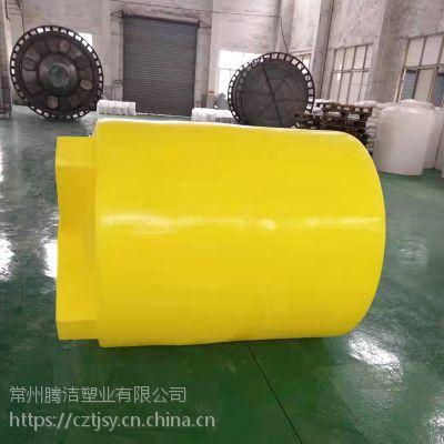 常州厂家 2000L加药箱MC-2000L搅拌桶 加厚滚塑容器 黄色/白色 配盖