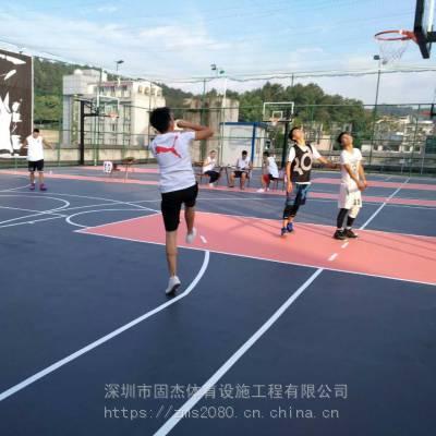 上海标准硅pu篮球场 篮球场专业施工球场地坪材料