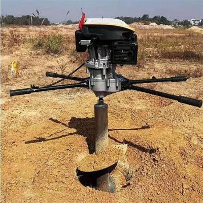 直径50厘米汽油钻坑机 润丰 荒地汽油挖坑机 打坑用钻眼机厂家