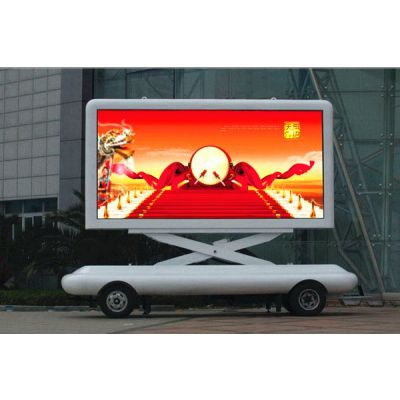 LED移动广告拖车、牵引式LED广告宣传车