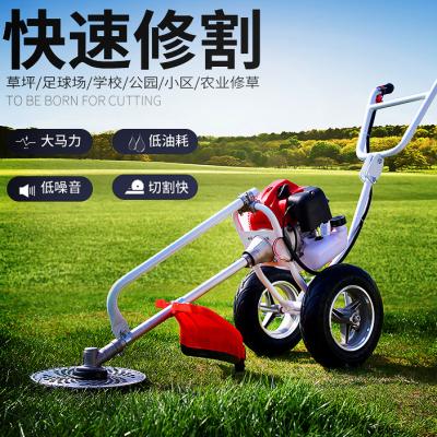 公园绿化草坪修剪机 手推式割草机使用视频 农场牧草收获割草机