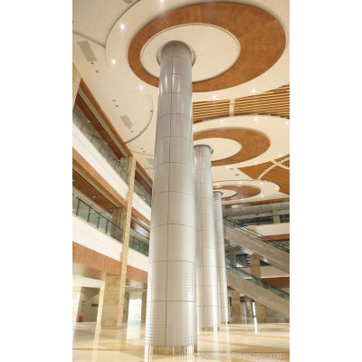 大厦写字楼木纹造型铝单板吊顶-AG8.AG亚游官网登录 生产厂家