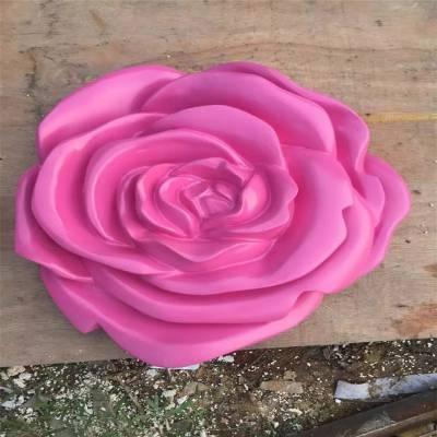 玻璃钢玫瑰花造型雕塑 广州玫瑰花浮雕雕塑