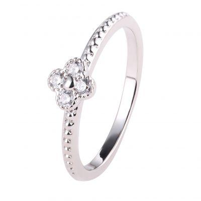 伊泰莲娜品牌直销铜戒指女式电镀白金防过敏 s925纯银戒指微镶锆石跨境饰品定制专供