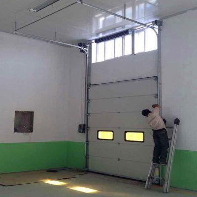保温防尘提升门 电动雷达快速滑升门 快速地磁分段滑升门