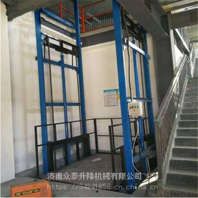 九江工厂升降货梯厂家 安装一台二层导轨链条式升降平台多少钱?