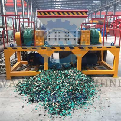 双轴垃圾撕碎机 轮胎塑料铝合金废铁废钢破碎 金属撕碎机