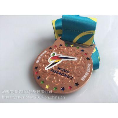 散打武术冠军奖牌定制,跆拳道比赛奖牌订做,活动比赛奖章制作