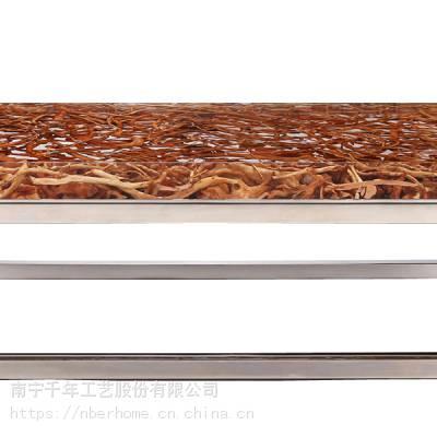 亚克力家具透明树脂工艺品摆件创意家具河流木家具