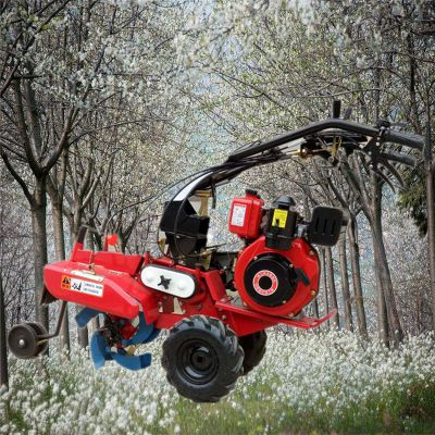 金佳手推大葱开沟培土机 上挂挡菜园旋耕机 10马力柴油开沟培土机
