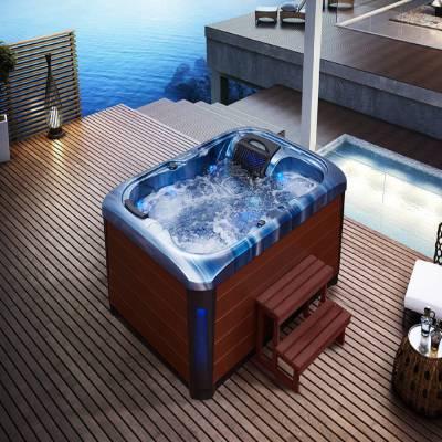 江苏南京奕华卫浴2150x1550x900mm新款带裙边度亚克力浴缸冲浪SPA大池按摩池