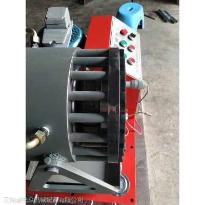 四川江苏大棚管锁管机液压双头缩管机 /锐众品牌